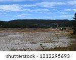 white dome geyser cone at lower ... | Shutterstock . vector #1212295693