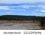 white dome geyser cone at lower ... | Shutterstock . vector #1212295696
