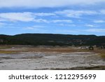 white dome geyser cone at lower ... | Shutterstock . vector #1212295699