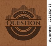 question wood emblem. vintage. | Shutterstock .eps vector #1212302416