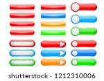 web buttons. user interface... | Shutterstock .eps vector #1212310006