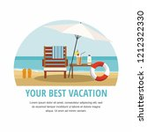 summer vacation and tourism.... | Shutterstock .eps vector #1212322330