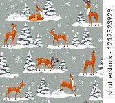 beautiful seamless pattern with ... | Shutterstock .eps vector #1212323929