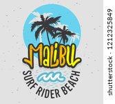 malibu surf rider beach... | Shutterstock .eps vector #1212325849