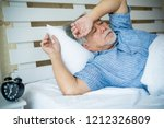 sleepless senior man depression ...   Shutterstock . vector #1212326809