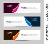 vector abstract banner design... | Shutterstock .eps vector #1212327286