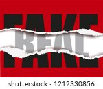 real and fake sticker ripped... | Shutterstock .eps vector #1212330856