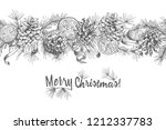 christmas garland realistic... | Shutterstock .eps vector #1212337783