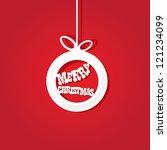 vector red christmas background.... | Shutterstock .eps vector #121234099