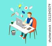 work place  creative man...   Shutterstock .eps vector #1212345079