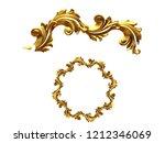 golden ornamental segment ... | Shutterstock . vector #1212346069