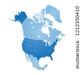 map of north america  usa ... | Shutterstock .eps vector #1212350410