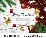banner with vector christmas... | Shutterstock .eps vector #1212350536