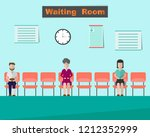 patients is waiting for the... | Shutterstock .eps vector #1212352999