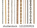 collection of various rope and... | Shutterstock . vector #1212353923