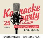 music banner for karaoke party... | Shutterstock .eps vector #1212357766