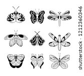 butterfly collection. stylish... | Shutterstock .eps vector #1212360346