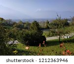 view over vaduz and the rhine...   Shutterstock . vector #1212363946