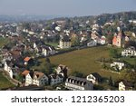 view over the vineyards and the ... | Shutterstock . vector #1212365203