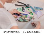 workplace of the mosaic master  ... | Shutterstock . vector #1212365383