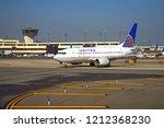 newark  nj  5 sep 2018  planes... | Shutterstock . vector #1212368230