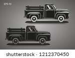 old retro pickup truck vector... | Shutterstock .eps vector #1212370450