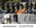 eternal flame for the heroes at ... | Shutterstock . vector #1212379120