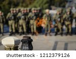 eternal flame for the heroes at ... | Shutterstock . vector #1212379126