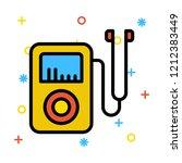 audio player   mp3   earphone   | Shutterstock .eps vector #1212383449
