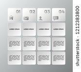 business white infographics... | Shutterstock .eps vector #1212383800