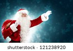 christmas theme with santa... | Shutterstock . vector #121238920