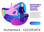 business infographics with... | Shutterstock .eps vector #1212391876