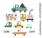 cute toy cars. different cars   ... | Shutterstock .eps vector #1212393160