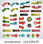 mega collection of various... | Shutterstock .eps vector #121239670