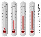 illustration of thermometers... | Shutterstock .eps vector #121240378