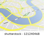 illustration of a city map with ... | Shutterstock .eps vector #121240468