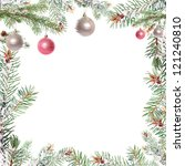 fir branch with christmas... | Shutterstock . vector #121240810