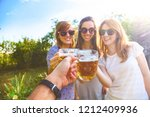 group of young women enjoying... | Shutterstock . vector #1212409936