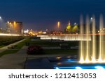 fountains at night in zagreb in ... | Shutterstock . vector #1212413053
