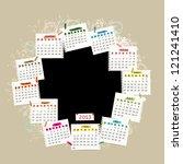 vector calendar 2013 with place ...   Shutterstock .eps vector #121241410