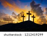 crucifixion cross symbol of... | Shutterstock . vector #1212419299