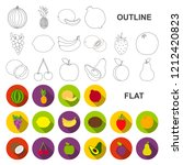 different fruits flat icons in... | Shutterstock .eps vector #1212420823