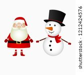 santa claus and christmas... | Shutterstock .eps vector #1212424576