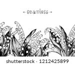 lily of the valley. hand drawn... | Shutterstock .eps vector #1212425899