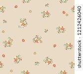vintage floral pattern.... | Shutterstock .eps vector #1212426040