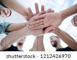 multiracial group of friends... | Shutterstock . vector #1212426970
