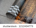 installation by heating and... | Shutterstock . vector #1212434773