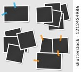 big set of square vector photo... | Shutterstock .eps vector #1212434986