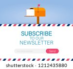 email subscribe  online...   Shutterstock .eps vector #1212435880