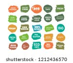 organic  100  bio  eco  natural ... | Shutterstock .eps vector #1212436570